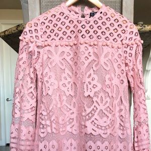 Pink Shein Lace Dress